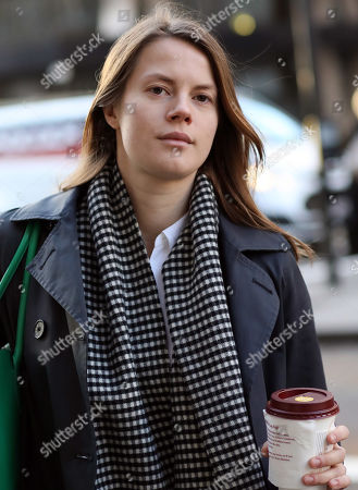 Nathalie Abildgaard arrives Central London Industrial Tribunals. Executive director Frederic Michel-Verdier, 50, is said to have leered at Nathalie Abildgaard, 27: 'If I was 20 years younger, I would have been all over you'