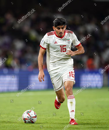 Stock Picture of Mehdi Torabi of Iran during Iran v Japan at the Hazza bin Zayed Stadium in Abu Dhabi, United Arab Emirates, AFC Asian Cup, Asian Football championship
