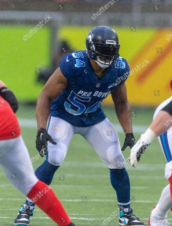 NFC inside linebacker Bobby Wagner 54 Seattle Editorial Stock ...