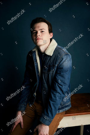 "Josh Wiggins poses for a portrait to promote the film ""Light From Light"" at the Salesforce Music Lodge during the Sundance Film Festival, in Park City, Utah"