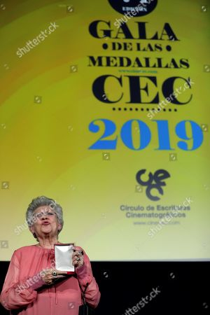 Pilar Bardem receives the Medal of Honor during Cinema Writers Circle Awards gala held at Press Palace in Madrid, Spain, 28 January 2019.