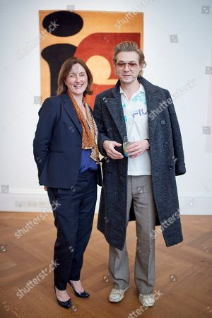 Tanya Steele and Harland Miller attend a preview for WWF's Tomorrow's Tigers fundraising project at Sotheby's, which is designed to raise awareness and funds in support of the TX2 goal, a global commitment to double tiger numbers in the wild by 2022.