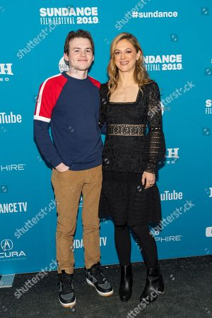 Stock Picture of Josh Wiggins and Marin Ireland