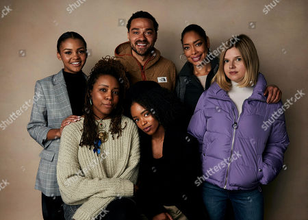 "Celeste O'Connor, Jesse Williams, Gina Torres, Ana Mulvoy Ten, Tayarisha Poe, Lovie Simone. Celeste O'Connor, from top left, Jesse Williams, Gina Torres, Ana Mulvoy Ten, Tayarisha Poe, bottom left, and Lovie Simone pose for a portrait to promote the film ""Selah and The Spades"" at the Salesforce Music Lodge during the Sundance Film Festival, in Park City, Utah"