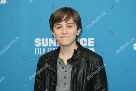 """Aiden Arthur poses at the premiere of the film """"Big Time Adolescence"""" during the 2019 Sundance Film Festival, in Park City, Utah"""