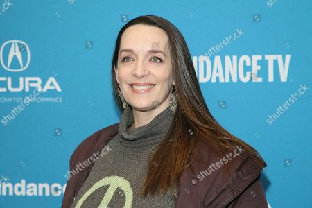 """Julia Murney poses at the premiere of the film """"Big Time Adolescence"""" during the 2019 Sundance Film Festival, in Park City, Utah"""