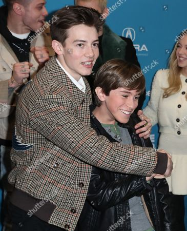 Griffin Gluck (L) and US actor Aiden Arthur arrive for the premiere of 'Big Time Adolescence' at the 2019 Sundance Film Festival in Park City, Utah, USA, 28 January 2019. The festival runs from the 24 January to 2 February 2019.