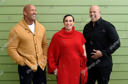 Dwayne Johnson, Dany Garcia, Hiram Garcia. Dwayne Johnson, left, and Dany Garcia, center, co-founders and co-CEOs of Seven Bucks Productions, and her brother Hiram Garcia, the company's president of production, share a laugh as they pose for a portrait during the 2019 Sundance Film Festival, in Park City, Utah