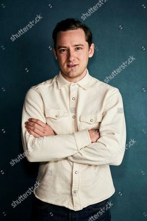 """Lewis Pullman poses for a portrait to promote the film """"Them That Follow"""" at the Salesforce Music Lodge during the Sundance Film Festival, in Park City, Utah"""