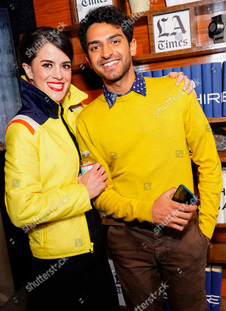 Mary Holland and Karan Soni at LA Times Studio at Sundance Film Festival presented by Chase Sapphire, in Park City, Utah
