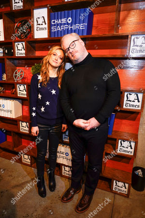 Marin Ireland and Jim Gaffigan at LA Times Studio at Sundance Film Festival presented by Chase Sapphire, in Park City, Utah
