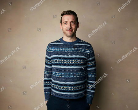 """Dave Hill poses for a portrait to promote the film """"Bootstrapped"""" at the Salesforce Music Lodge during the Sundance Film Festival, in Park City, Utah"""