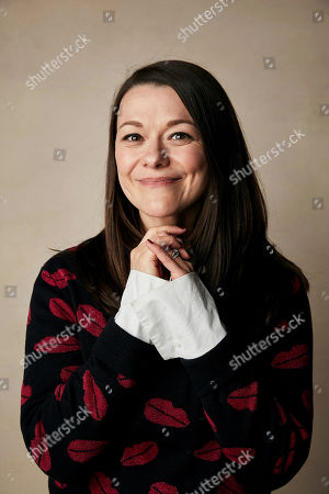 """Stock Image of Maribeth Monroe poses for a portrait to promote the film """"Bootstrapped"""" at the Salesforce Music Lodge during the Sundance Film Festival, in Park City, Utah"""