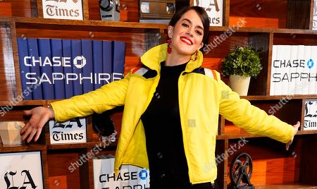 Mary Holland plays around at the LA Times Studio at Sundance Film Festival presented by Chase Sapphire, in Park City, Utah