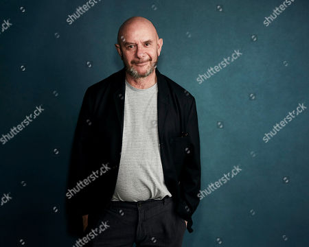 """Nick Hornby poses for a portrait to promote the film """"State of the Union"""" at the Salesforce Music Lodge during the Sundance Film Festival, in Park City, Utah"""