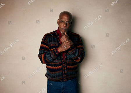 """Stanley Nelson poses for a portrait to promote the film """"Miles Davis: Birth of the Cool"""" at the Salesforce Music Lodge during the Sundance Film Festival, in Park City, Utah"""