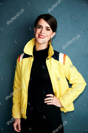 """Stock Picture of Mary Holland poses for a portrait to promote the film """"Greener Grass"""" at the Salesforce Music Lodge during the Sundance Film Festival, in Park City, Utah"""