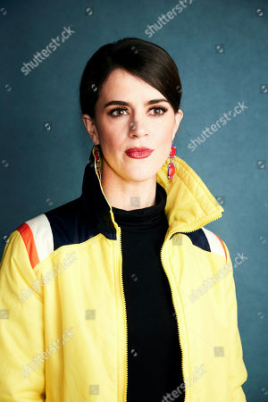 """Mary Holland poses for a portrait to promote the film """"Greener Grass"""" at the Salesforce Music Lodge during the Sundance Film Festival, in Park City, Utah"""