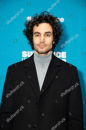 "Adam Bakri poses at the premiere of ""Official Secrets"" during the 2019 Sundance Film Festival, in Park City, Utah"