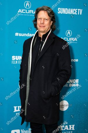 "Gavin Hood poses at the premiere of ""Official Secrets"" during the 2019 Sundance Film Festival, in Park City, Utah"