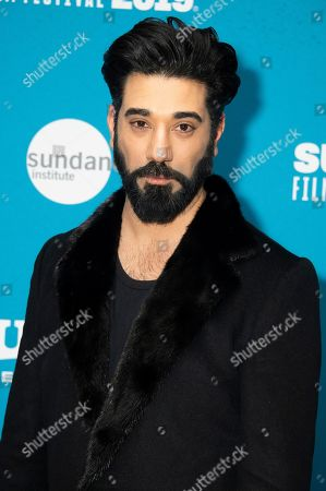 """Ray Panthaki poses at the premiere of """"Official Secrets"""" during the 2019 Sundance Film Festival, in Park City, Utah"""