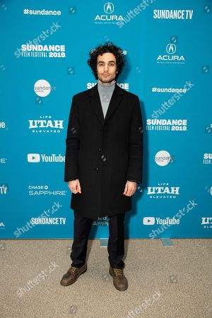 "Stock Image of Adam Bakri poses at the premiere of ""Official Secrets"" during the 2019 Sundance Film Festival, in Park City, Utah"