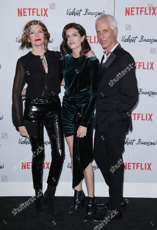 Rene Russo, Rose Gilroy and Dan Gilroy