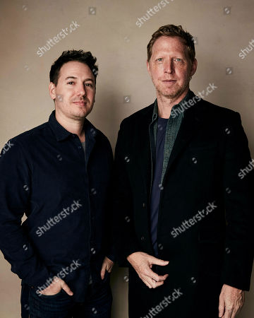 """Corey Reeser, Matt Tyrnauer. Producer Corey Reeser, left, and director Matt Tyrnauer pose for a portrait to promote the film """"Where's My Roy Cohn?"""" at the Salesforce Music Lodge during the Sundance Film Festival, in Park City, Utah"""
