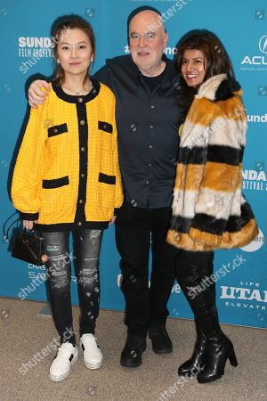 Chinese producer Melissa Shiyu Zuo (L), British film and music producer Ged Doherty (C) and South African producer Trish Chetty (R) arrive for the premiere of the film 'Official Secrets' at the 2019 Sundance Film Festival in Park City, Utah, USA, 28 January 2019. The festival runs from 24 January to 02 February 2019.