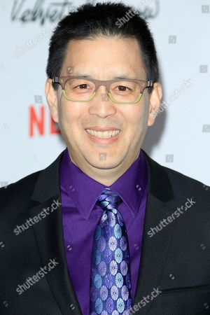 Scott Takeda arrives for the Netflix premiere of 'Velvet Buzzsaw' at the Egyptian Theatre in Hollywood, Los Angeles, California, USA, 28 January 2019.