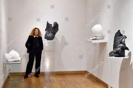Nicole Farhi with Juno (L) £9,600, and Demeter (R), £15,500, Venus on Seashell, £9,600, Aphrodite, £14,500
