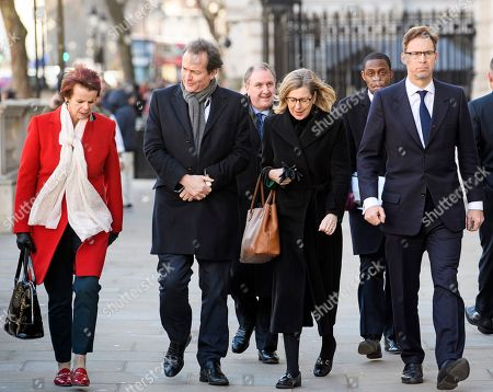 Conservative MPS, including Anne Milton and Tobias Ellwood arrive at the Cabinet Offices on Whitehall. MPs on Tuesday will vote on a series of amendments to the PM's plans that could shape the future direction of Brexit.