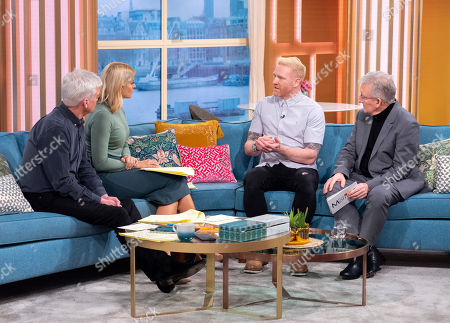 Phillip Schofield and Holly Willoughby with Iwan Thomas with Dr Chris Steele