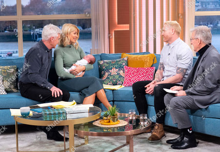 Phillip Schofield and Holly Willoughby, Iwan Thomas, Baby Teddy and Dr Chris Steele