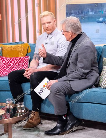 Iwan Thomas with Dr Chris Steele