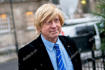 Conservative Member of Parliament Michael Fabricant outside parliament in London, Britain, 29 January 2019. The House of Commons is set to vote on amendments to British Prime Minister May's Brexit plan in parliament on 29 January.
