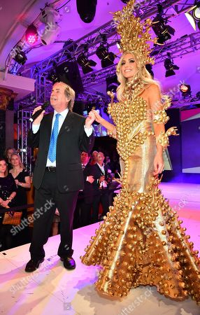 Stock Picture of Chris de Burgh and daughter Rosanna Davison