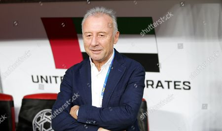 Alberto Zaccheroni head coach of UAE stands before the 2019 AFC Asian Cup semifinal round match between Qatar and UAE in Abu Dhabi, United Arab Emirates, 29 January 2019.