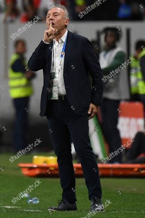 United Arab Emirates' head coach Alberto Zaccheroni of Italy directs his team during the AFC Asian Cup semifinal soccer match between United Arab Emirates and Qatar at Mohammed Bin Zayed Stadium in Abu Dhabi, United Arab Emirates