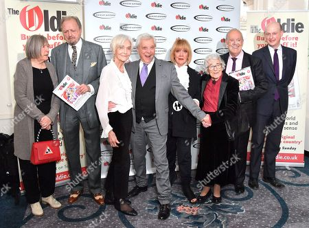 Stock Image of Jilly Cooper, Peter Bowles, Sheila Hancock, Lionel Blair, Amanda Barrie, Judith Kerr, Nicholas Parsons and Gyles Brandreth