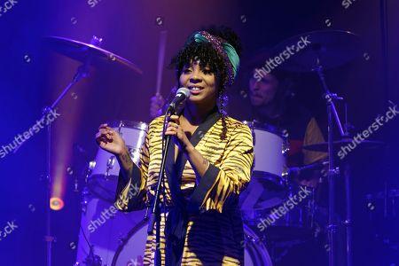 Editorial image of Hollie Cook in concert, Paris, France - 27 Jan 2019