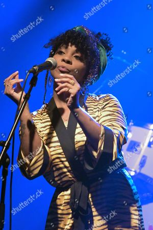 Stock Photo of Hollie Cook performs live at 'La Machine du Moulin Rouge'