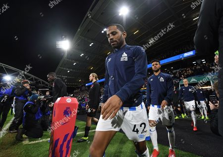 Jason Puncheon of Huddersfield Town walks out for the match