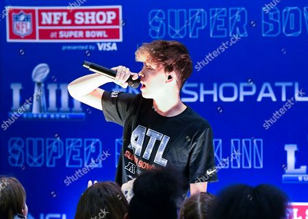 Jacob Sartorius performs at the NFL Shop on in Atlanta