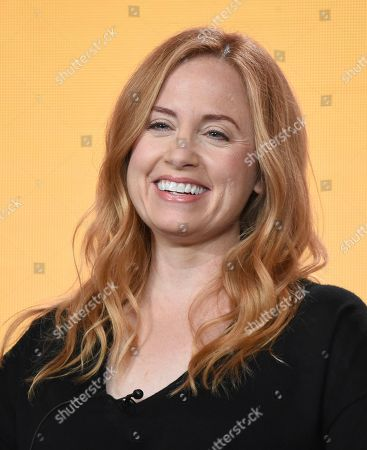 """Jessica Chaffin participates in NBC's """"Abby's"""" panel during the NBCUniversal TCA Winter Press Tour, in Pasadena, Calif"""
