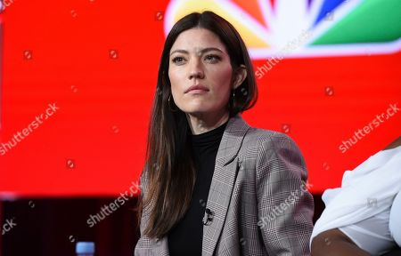 Jennifer Carpenter participates in the Women of Drama panel during the NBCUniversal TCA Winter Press Tour, in Pasadena, Calif