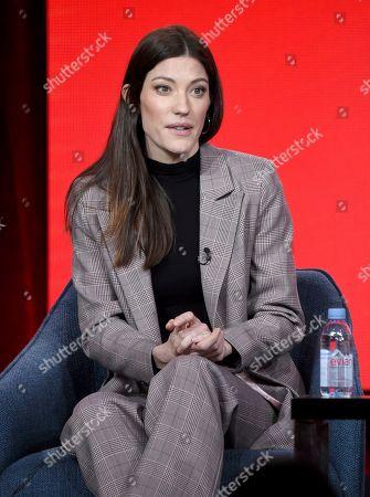 Jennifer Carpenter speaks in the Women of Drama panel during the NBCUniversal TCA Winter Press Tour, in Pasadena, Calif