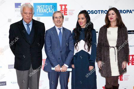 Felipe Gonzalez, Yves Saint-Geours, Beatriz Luengo