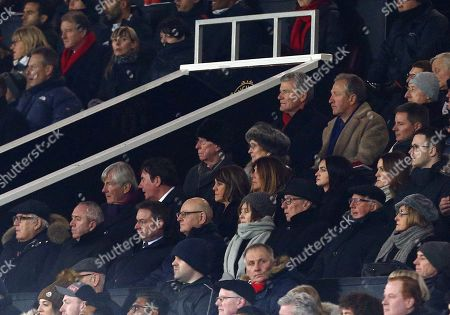 Sir Bobby Charlton of Manchester United looks on from the stand