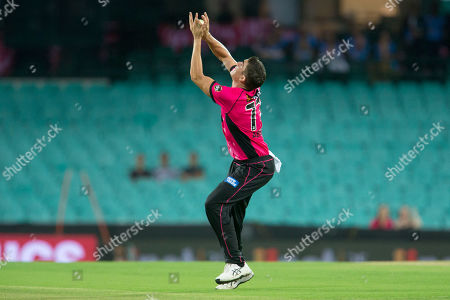 Stock Picture of Sydney Sixers player Sean Abbott takes a catch